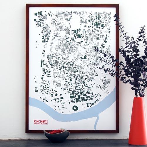 Cincinnati Footprint Print by VisuaLingual