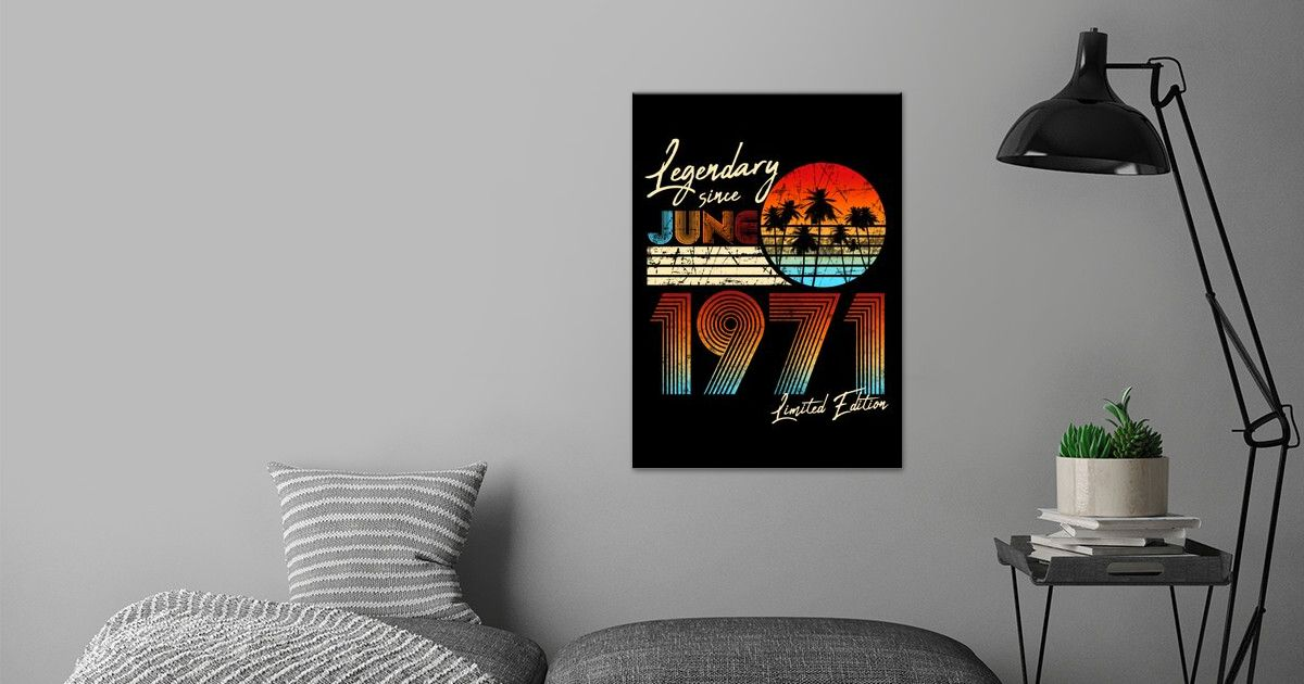 born in june 1971 poster by anna lecour displate