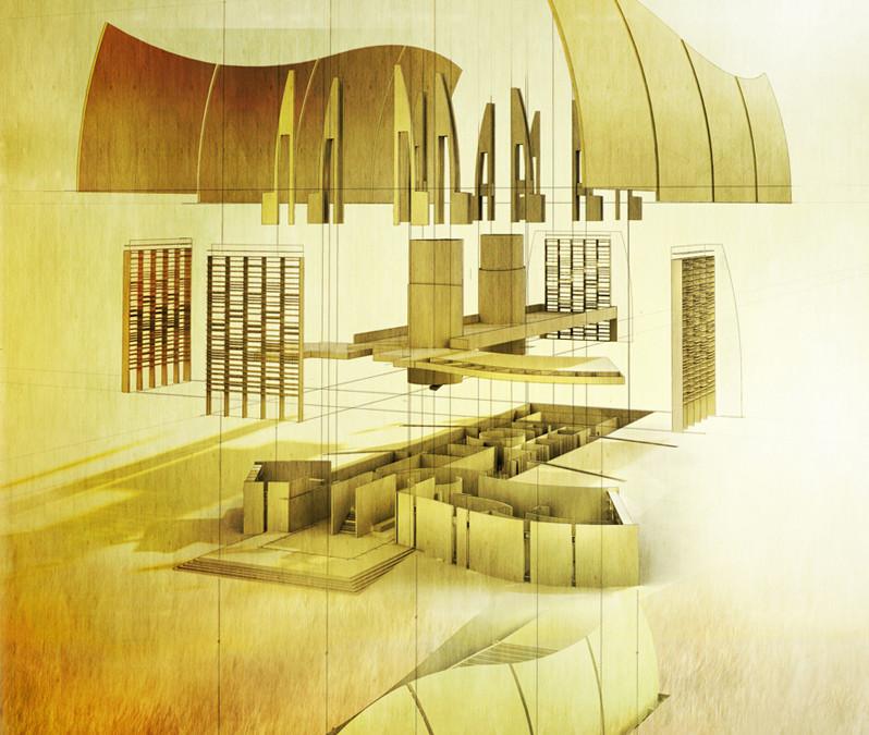Exploded Axon Visualizing Architecture