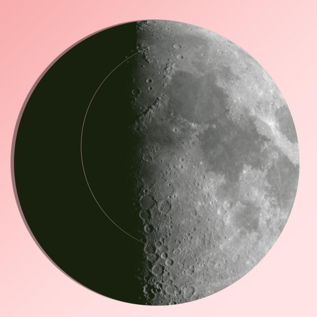 first-quarter-moonpinkgreen