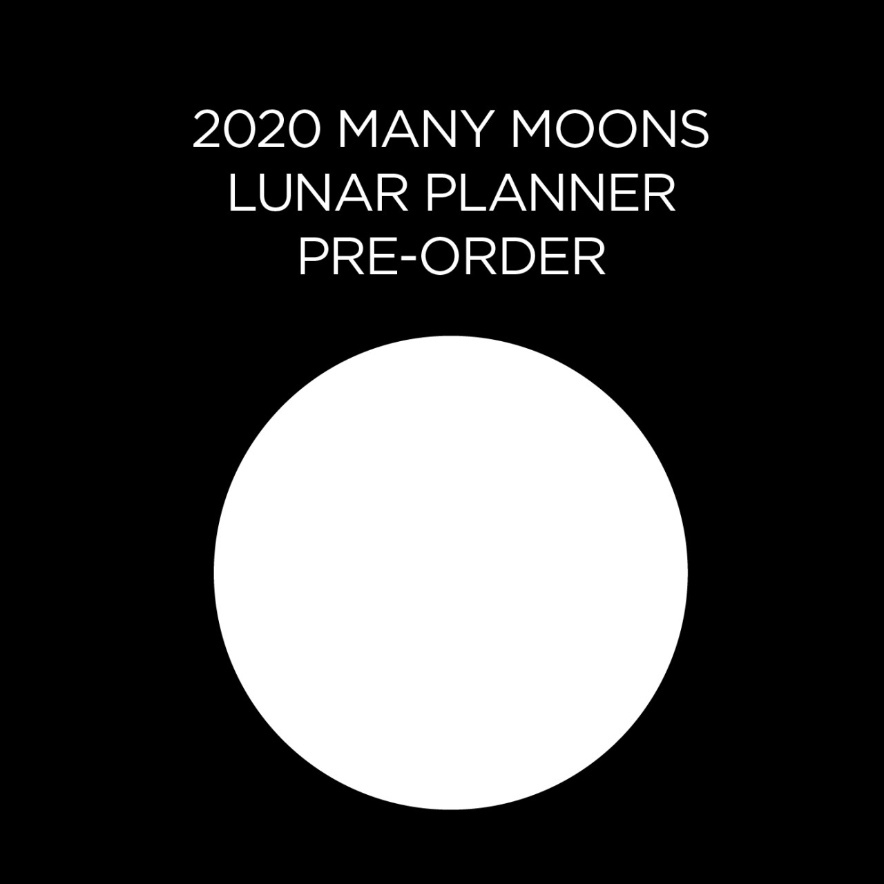 2020 Many Moons Lunar Planner by Modern Women   PRE ORDER FALL 2019   Sarah Faith Gottesdiener   Visual Magic   Many Moons