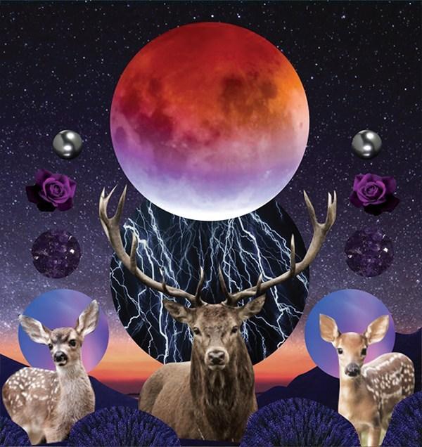 July 2020 Luanr Eclipse Tarotscope_Original Artwork by Sarah Faith Gottesdiener_Modern Women_Many Moons_Visual Magic