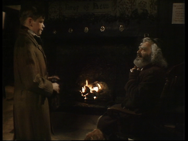 kay visits cole by the fireside