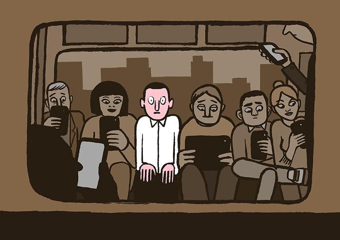Jean Jullien tech addiction 2