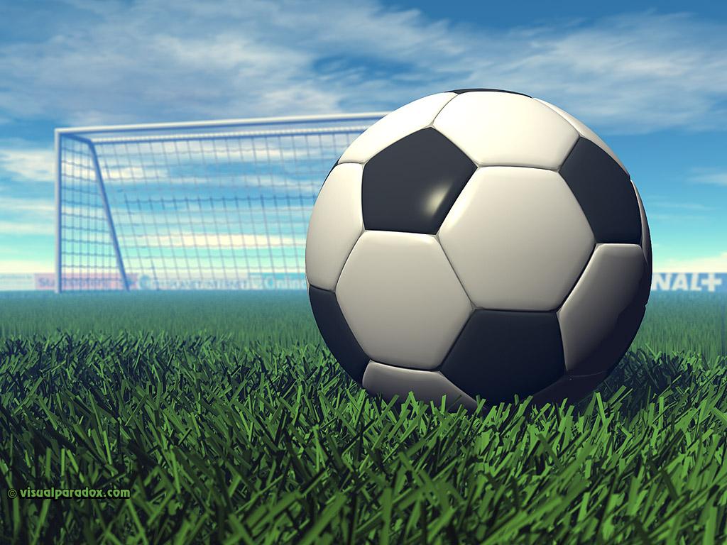 Free 3d Wallpaper Soccer Ball X768