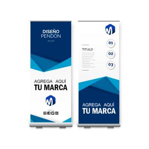 Servicios de Diseño de pendón + Díptico o tríptico en Visualpublik mi Agencia de Marketing Digital