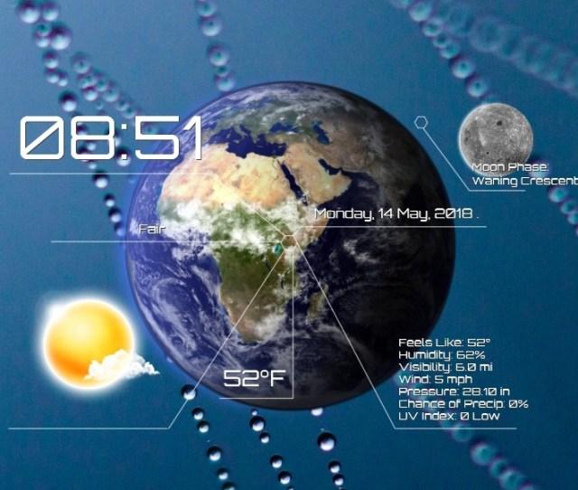 Future Weather Forecast Rainmeter Skin 1