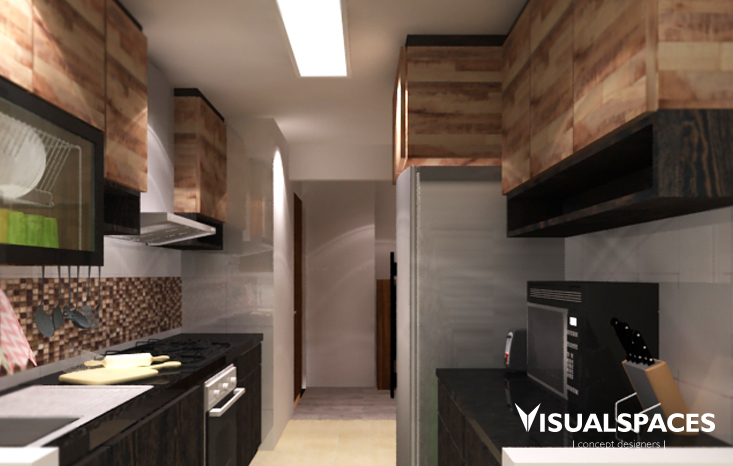 Fernvale Road 4 Room HDB Flat - Kitchen Design