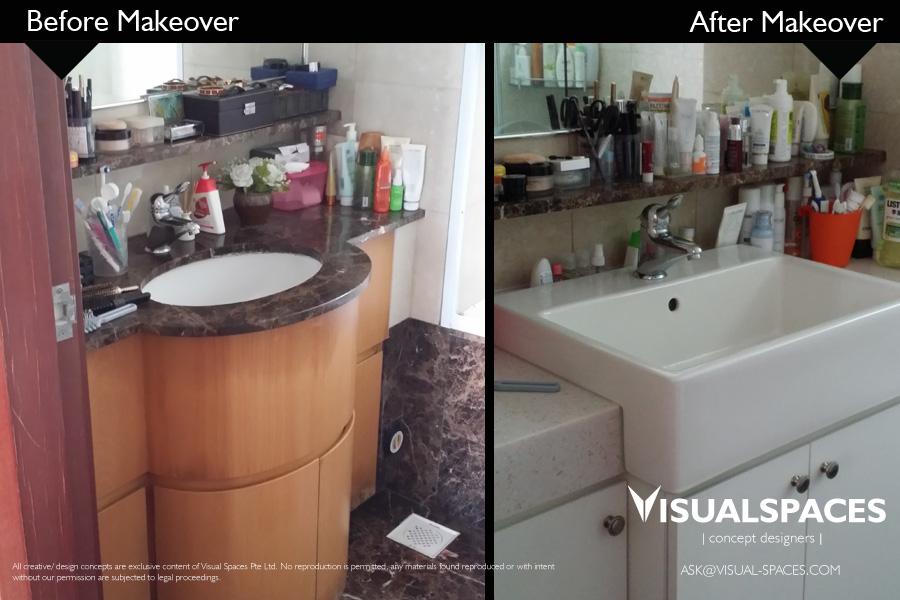 Bathroom Design After Renovation Makeover - The Gardens at Bishan