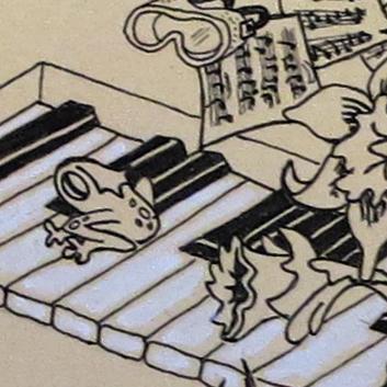 frog and keyboard