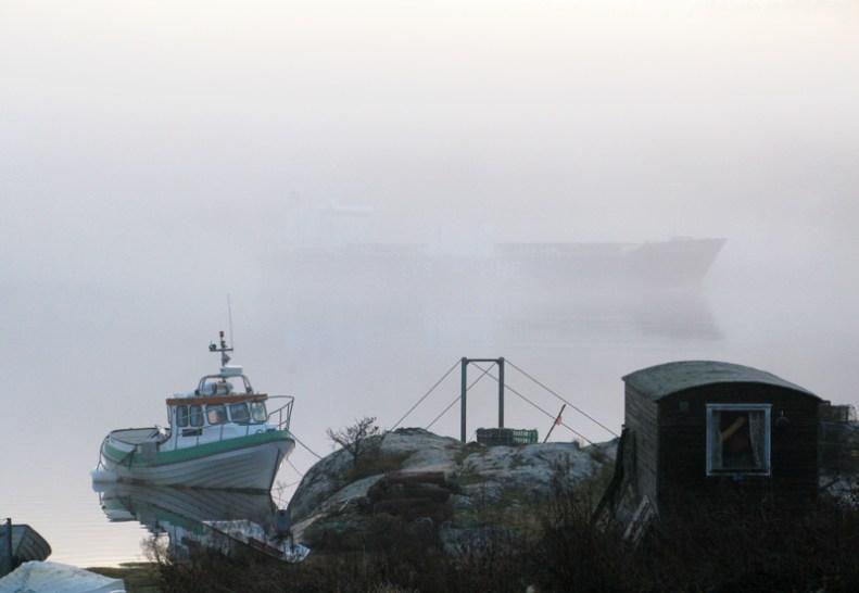 big boat, little boat. Norway
