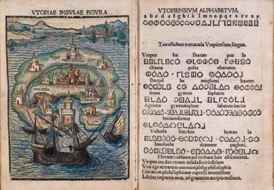 Colored version of More's Utopia, source: http://www.santa-coloma.net/voynich_drebbel/utopias/utopias.html