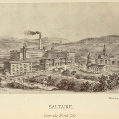 In 1850 Sir Titus Salt (a textile mill owner) announced plans to build a model industrial community called Saltaire at a nearby beauty spot. Saltaire was built in twenty years. Its textile mill was the largest and most modern in Europe.