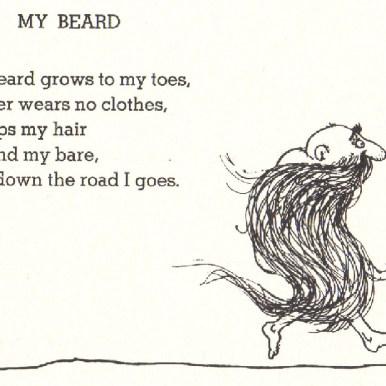 My beard, Shel Silverstein