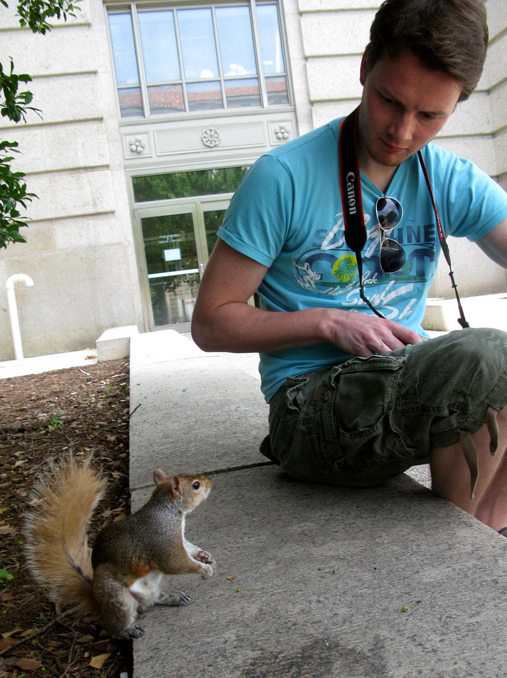 L & squirrel friend