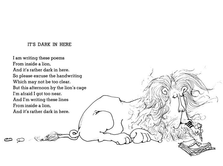 Inside a lion, Shel Silverstein