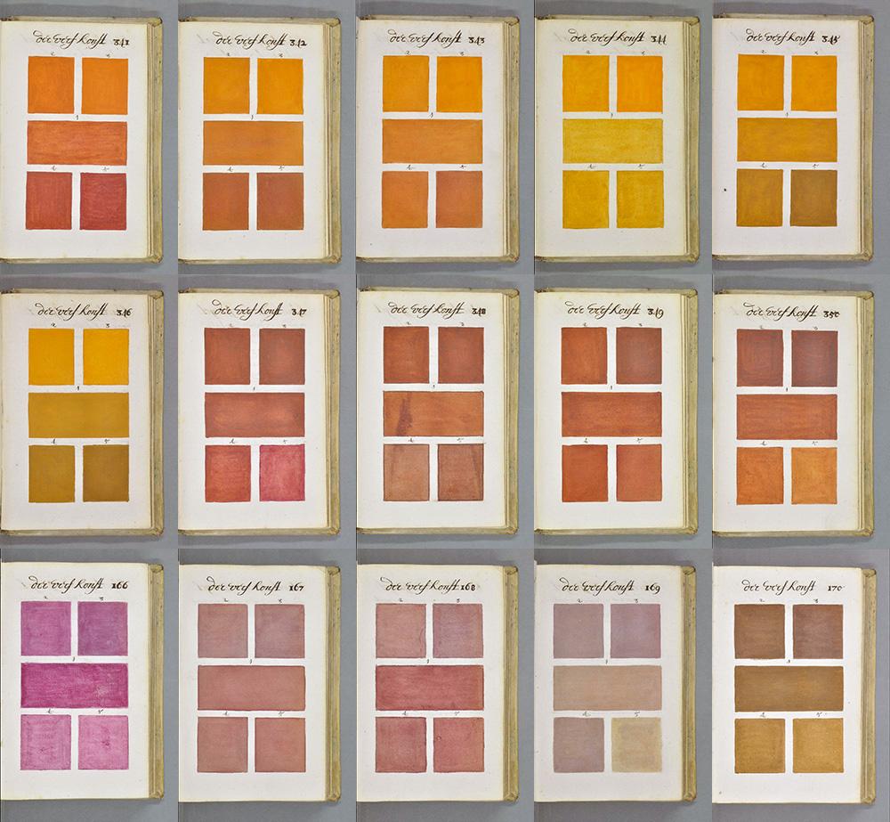 Colour guide anno 1692