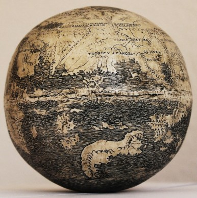 The Ostrich Egg Globe (view of Asia)