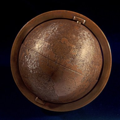 The Hunt-Lenox globe was prepared around 1510 by an unknown artist. Part of the The New York Public Library.