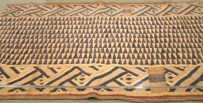 Raffia ceremonial overskirt, Bushong people, 20th cent.
