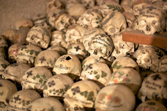 Skulls in the Hallstatt Bone Chapel - Photo by Jiuguang Wang