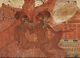 Tutankhamen and his daughters. Ashmolean Museum