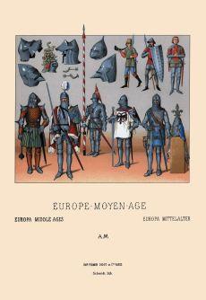 Assortment of medieval armor, c. 1350-1460.