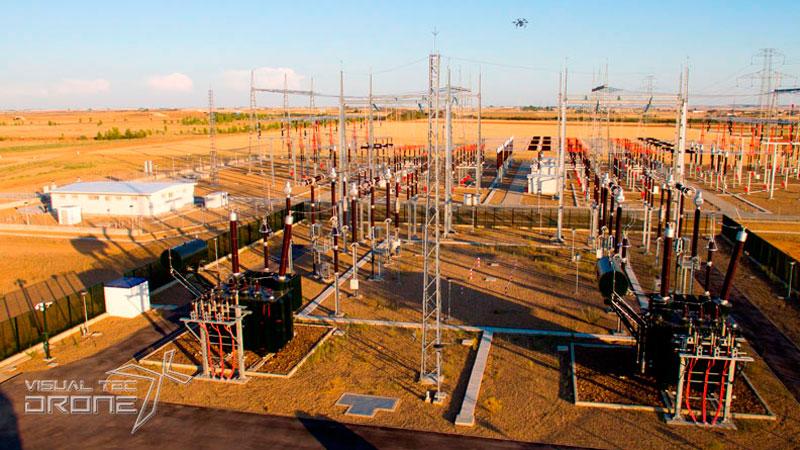 Instalaciones energétivas centros de transformación de termografía con Visual Tec Drone