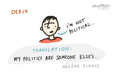 I'm not political