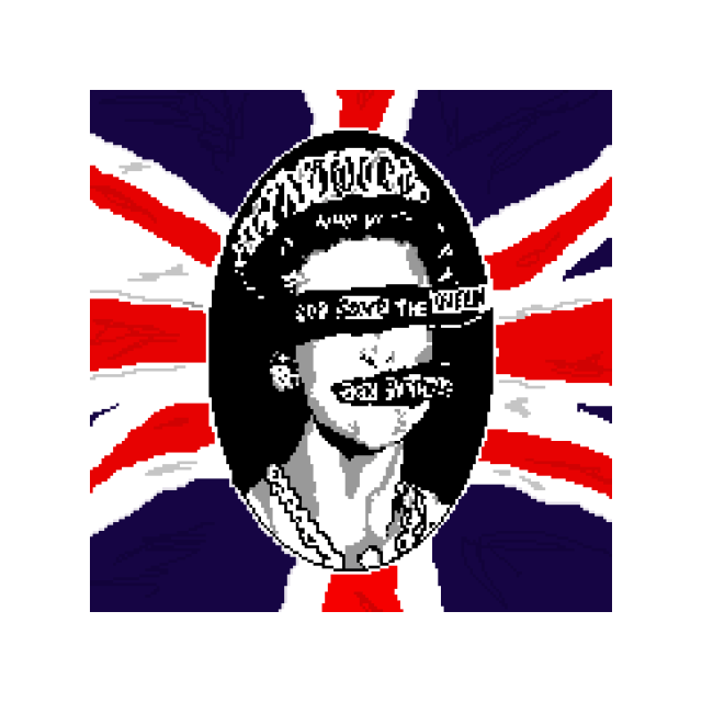ドット絵 God Save the Queen