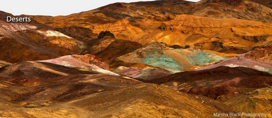 Artist's Palette in Death Valley   Photo: Marsha J Black