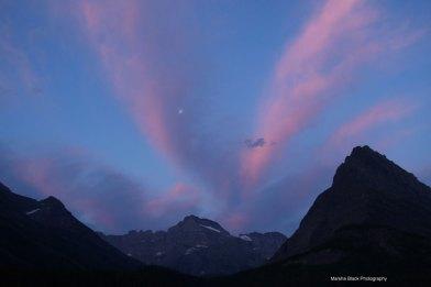 Sunrise at Swiftcurrent, Glacier National Park   Marsha J Black