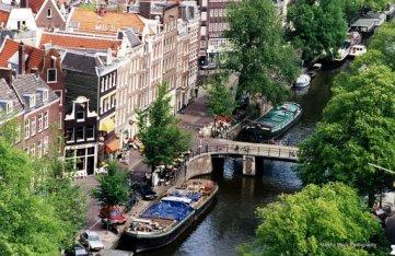 Life on the Canals, Amsterdam   Marsha J Black
