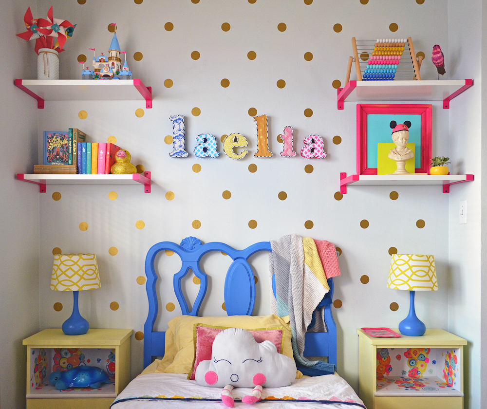 Girl's Room Gold Polka Dots