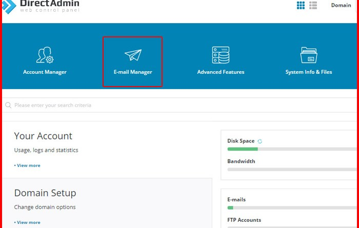 How to Create a New Email Account in Direct Admin Panel?