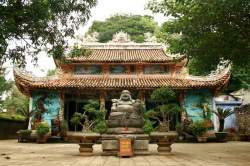 Buddhist temple in the Marble Mountains