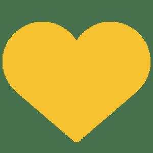 Vita Centre Yellow Heart