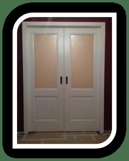 Двустворчатая раздвижная дверь в стену