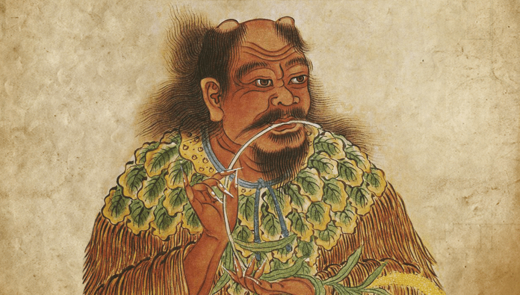 Shennong, author of an ancient Materia Medica