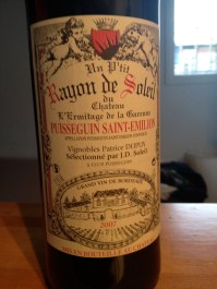 The bottle of wine we drank down at the Seine