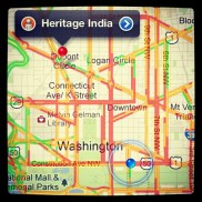 D.C. traffic (this location of Heritage India is closed!)