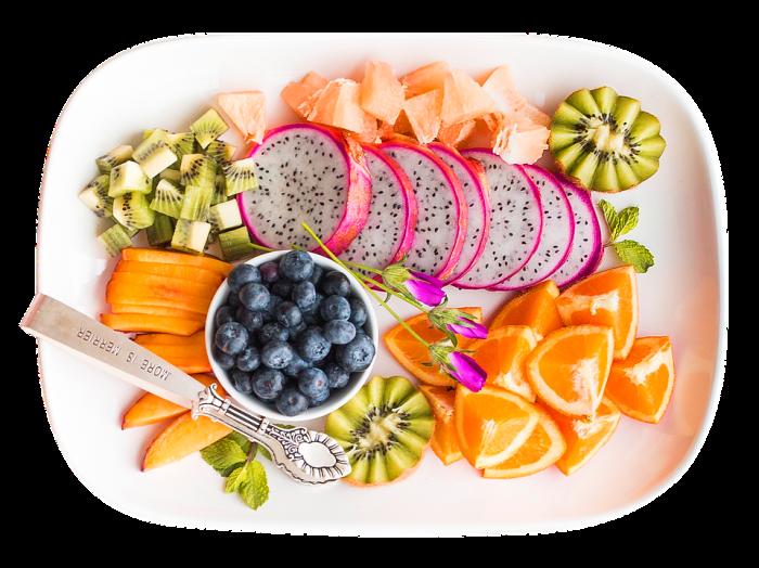 Wochenmenü einer gesunden und ausgewogenen Ernährung