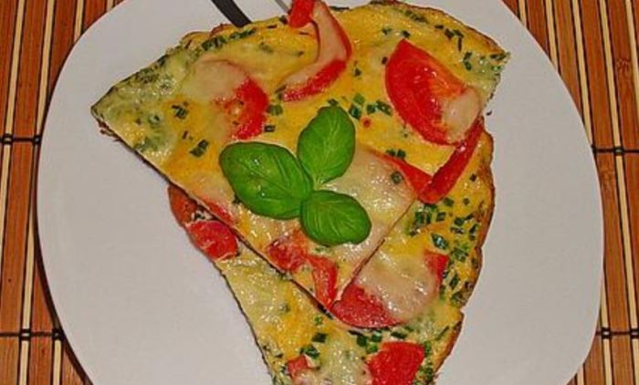 schnelles Abendessen, schnelles Essen, Abendessen Ideen, Abendessen Idee Omelett mit Mozzarella