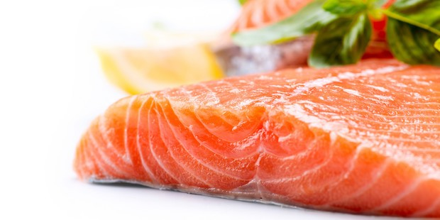 Salmon Raw Fillet. Red Fish isolated on a White Background; Shutterstock ID 143896138; PO: aol; Job: production; Client: drone