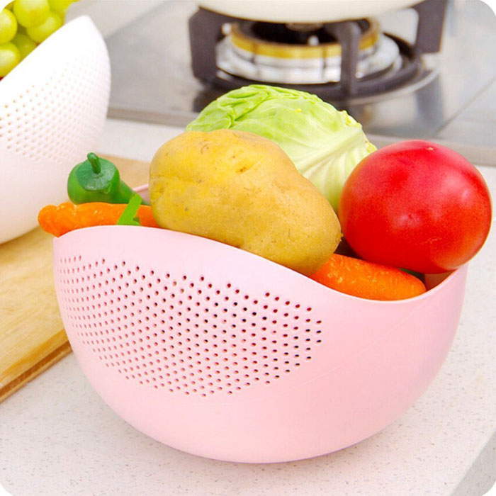 Vegetable Rice And Fruits Washing Bowl Amp Strainer Eco Friendly BPA