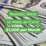 13 modi realistici per guadagnare $1.000 extra al mese