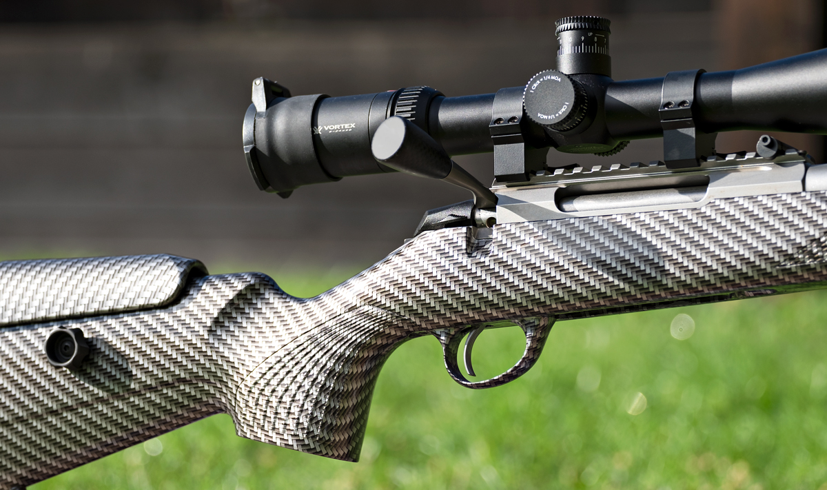 Tikka T3x Rifle Stock Hydro Dipped In Black And Silver