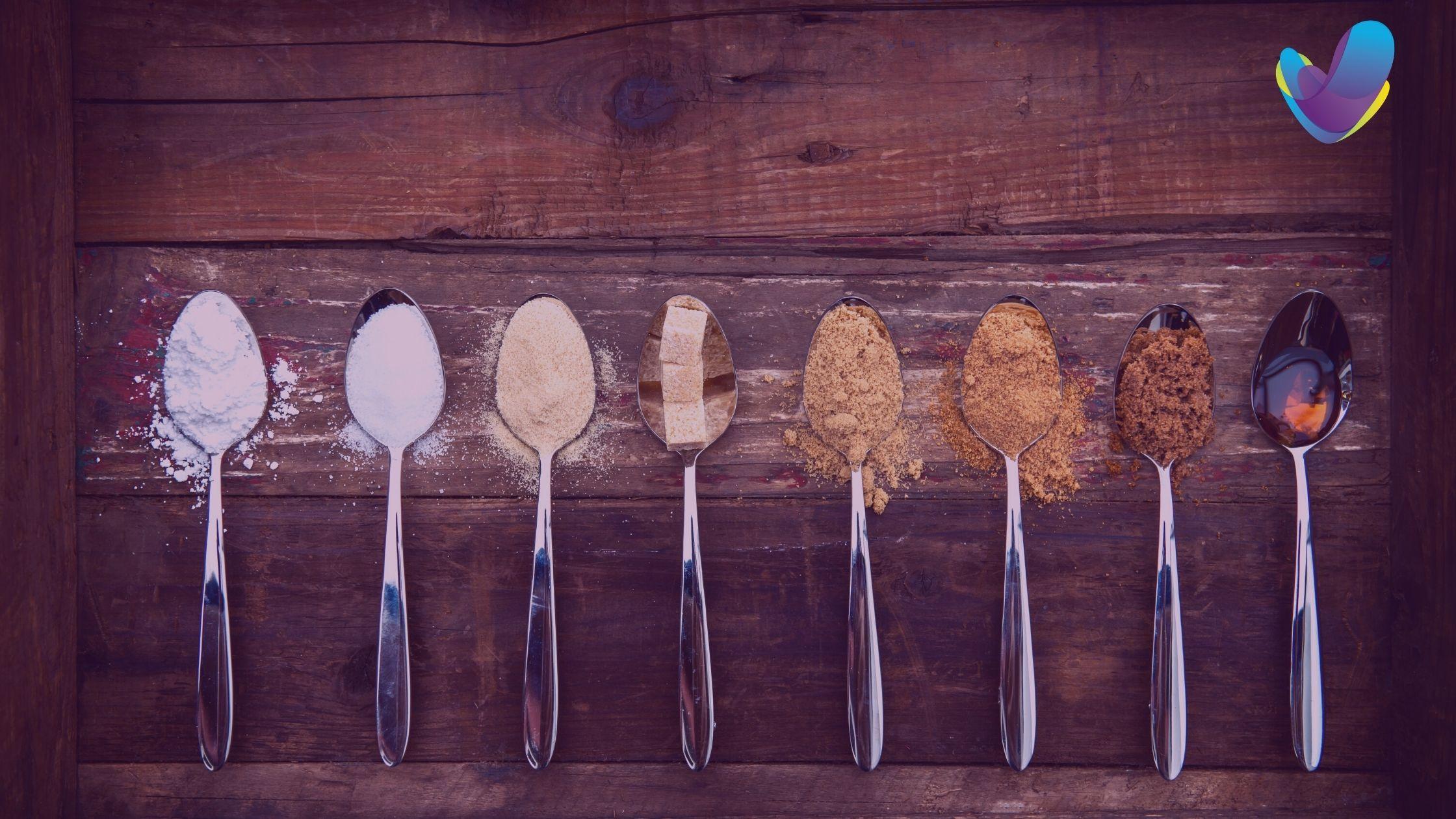 Diferentes formas de azucar