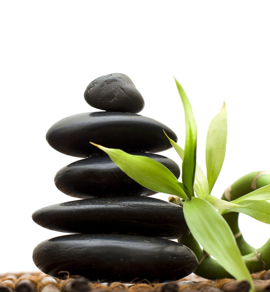 Zen concept with bamboo and stone - alternative medicine and tree
