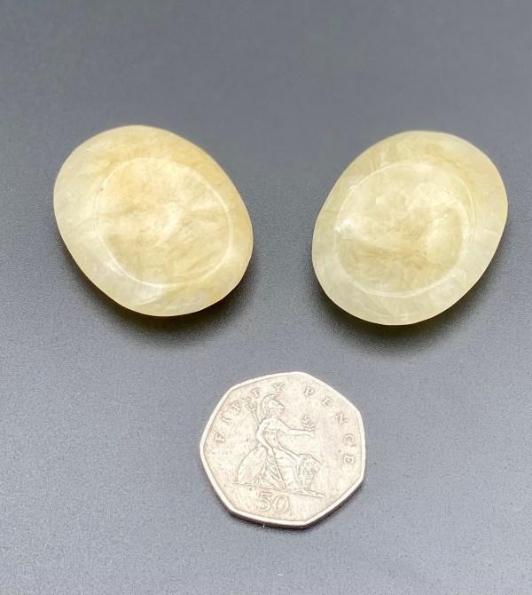 Orange Calcite Thumb Stones with 50p